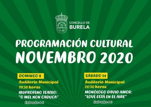 Programación cultural Novembro 2020